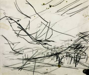 Working Drawing for 'Primrose Hill' 1968 Frank Auerbach born 1931 Purchased 1971 http://www.tate.org.uk/art/work/T01272