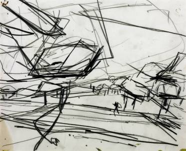 Working Drawing for 'Primrose Hill' 1968 Frank Auerbach born 1931 Purchased 1971 http://www.tate.org.uk/art/work/T01273